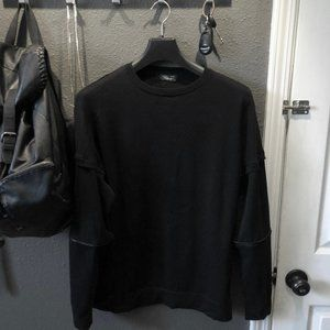 Zara Double Sleeve Zipper Sweatshirt